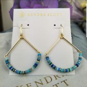 Kendra Scott, Reece, Sea Green, Earrings